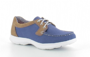 Heavenly Feet Womens Rooster Blue Tan Shoes